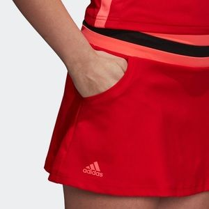 NWT Adidas Club Skirt Tennis in Scarlet Red/Orange